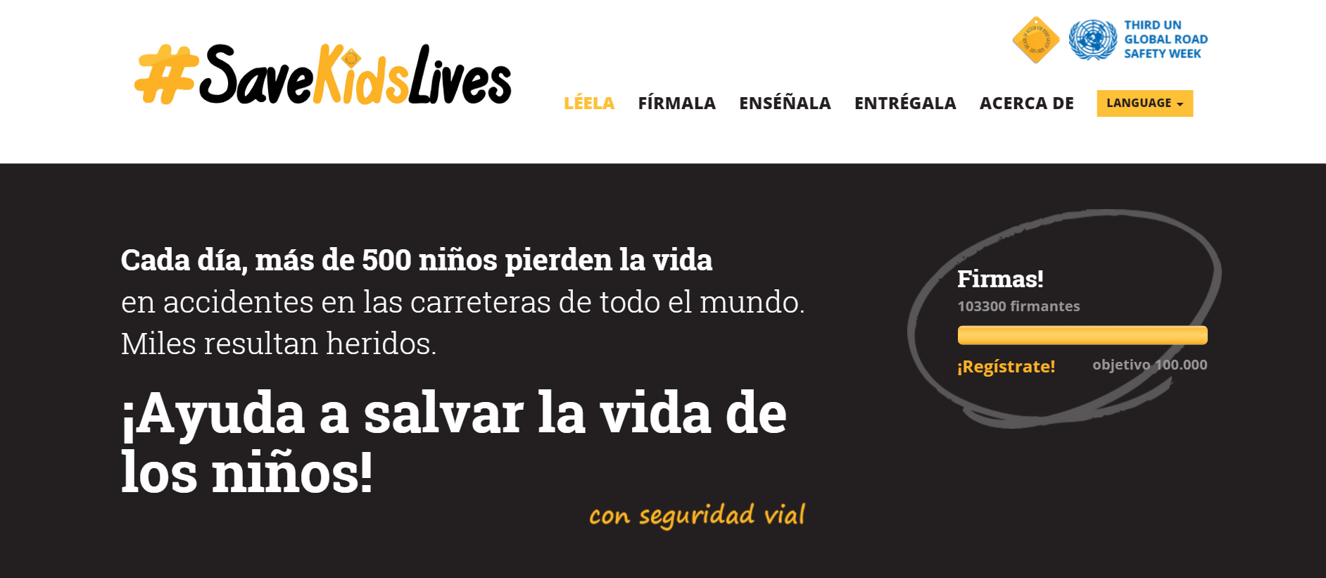 Fundtrafic y Asociación DIA se suman a la campaña #SaveKidsLives en la III Semana Mundial para la Seguridad Vial