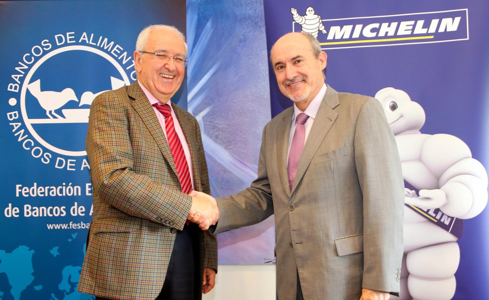Michelin equipará los vehículos de los 55 bancos de alimentos de España
