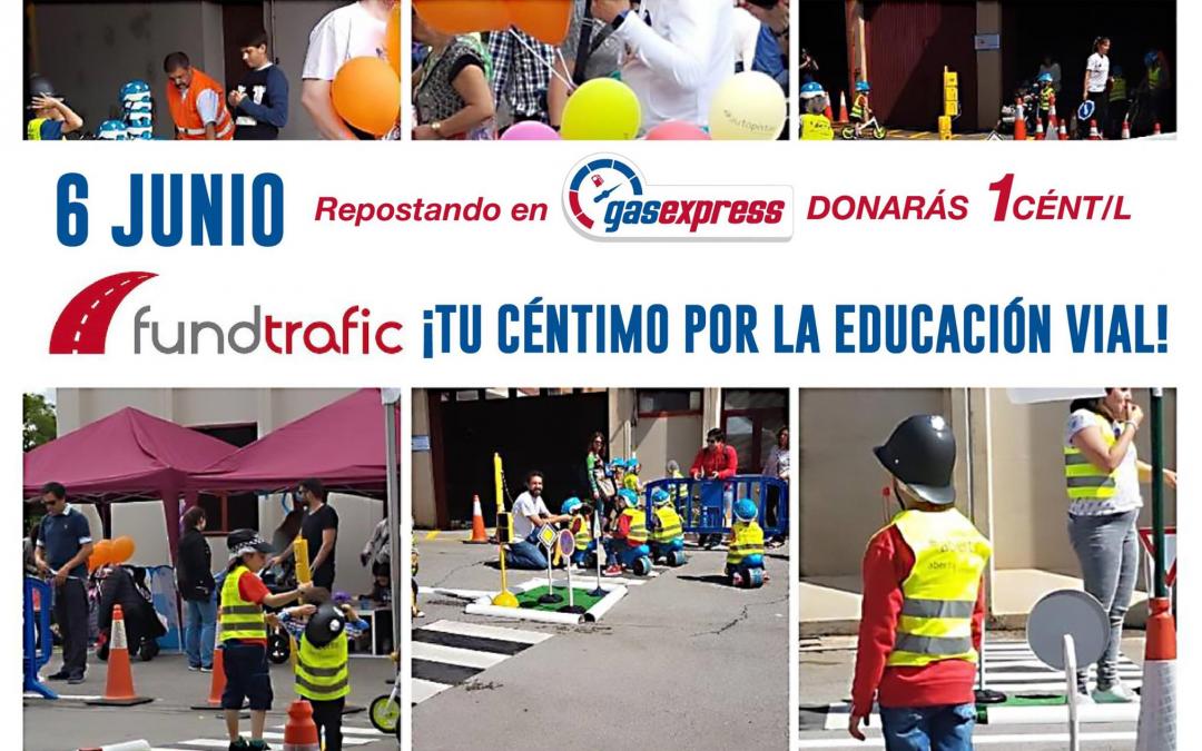 El 6 de junio tu céntimo por la educación vial infantil en GasExpress