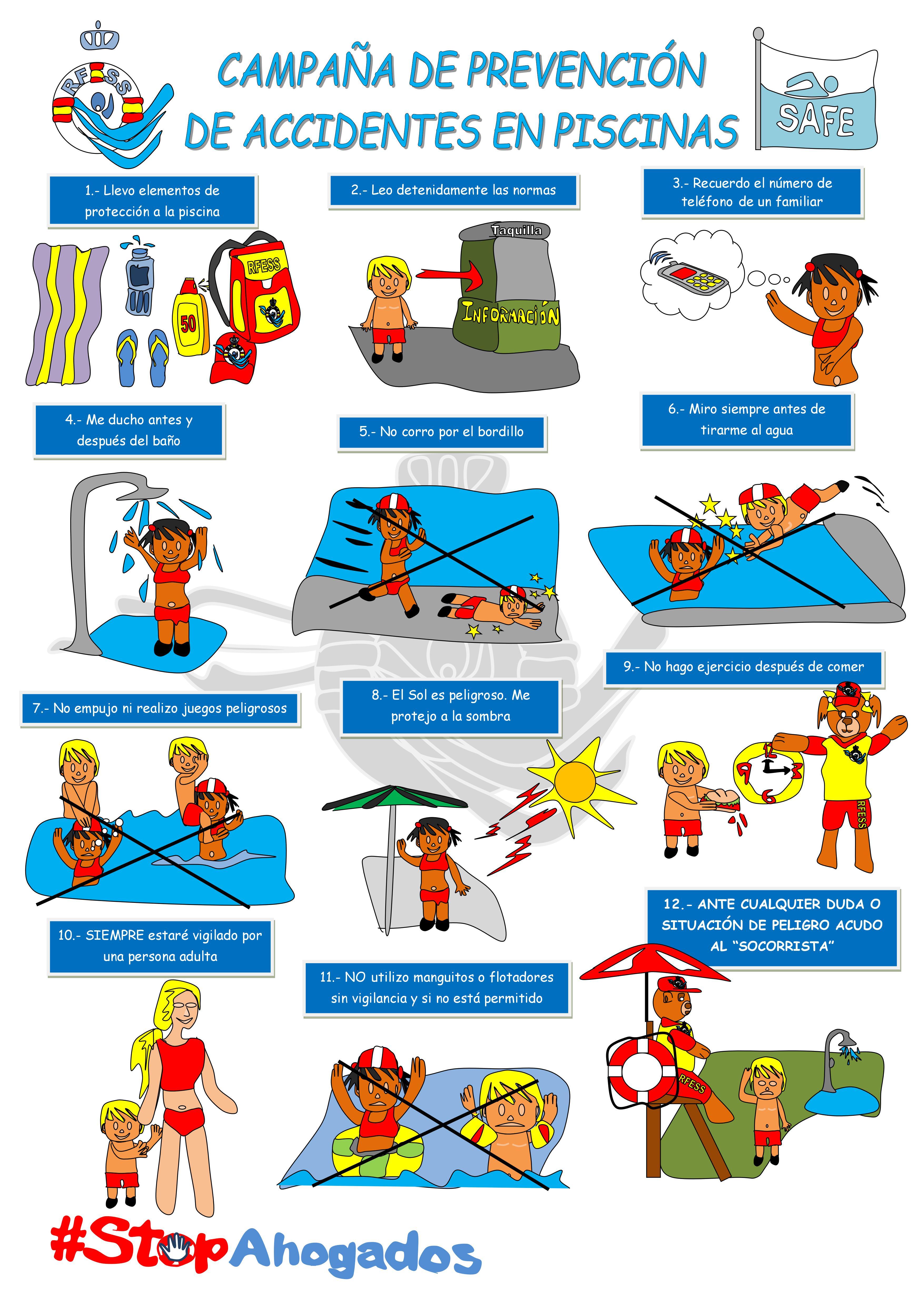 Ahogamiento en piscina - Prevención de accidentes en piscinas