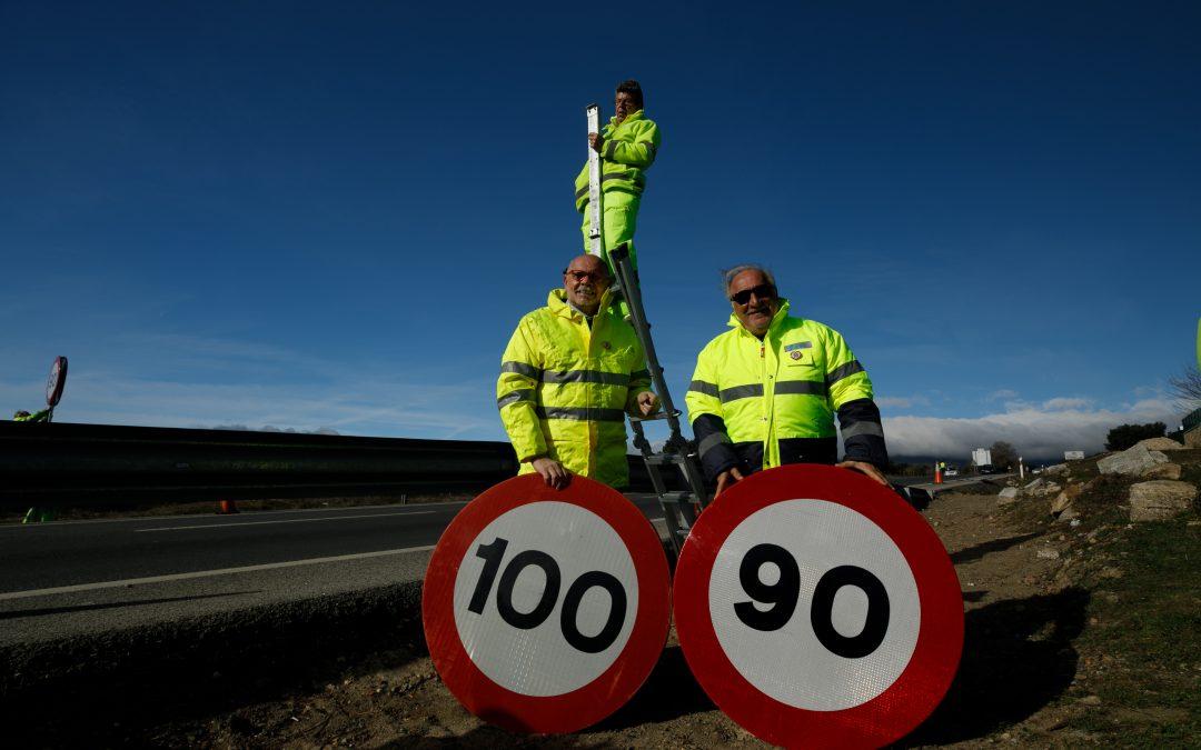 A 90 km/h en carreteras convencionales: nuevos límites de velocidad
