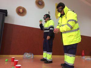 Gafas de simulación de alcohol y drogas